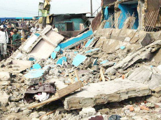 waec students died as building collapses on them