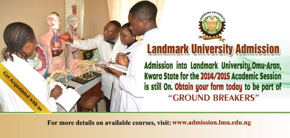 Landmark University 1st Batch Admission List 2016/2017 Released