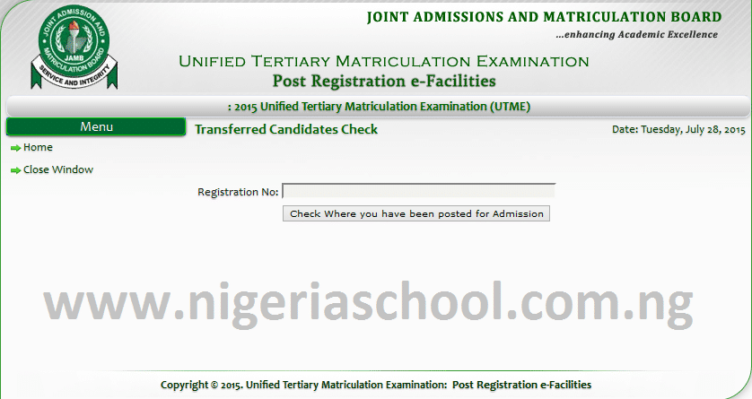 Check_Jamb_Admission_Recommendation_Status