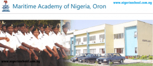 Maritime Academy Oron Notice On Change Of Date For the 2015/2016 ND Entrance Examination