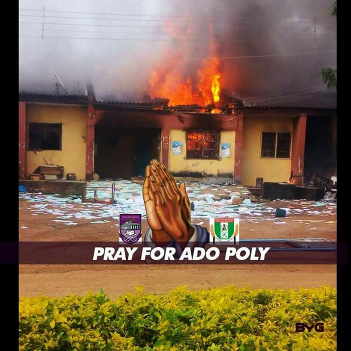 Federal Polytechnic Ado- Ekiti Shut Down Indefinitely Over Protests