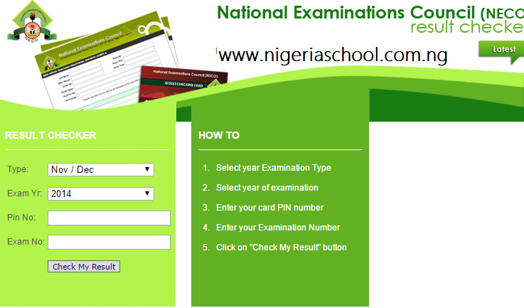 Check Your NECO Nov-Dec 2014-2015 Examination Result