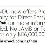 Niger Delta University Pre-Degree
