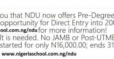 Niger Delta University Pre-Degree