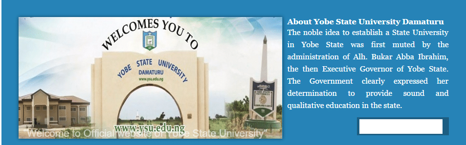 Yobe State University Direct Entry Form