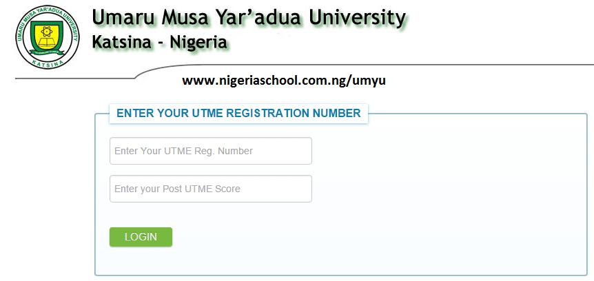 umyu admission letter