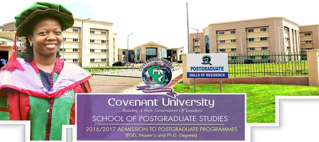 covenant university postgraduate form 2018/2019