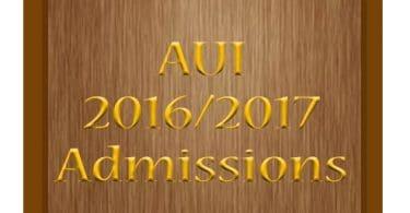 Augustine University Ilara-Epe Lagos (AUI) for 2016/2017 academic session