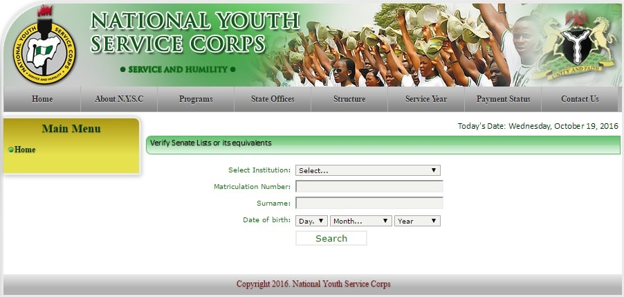 nysc senate list batch b