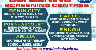 igbinedion university admission screening