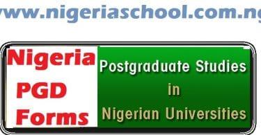 postgraduate admissions in nigerian universities