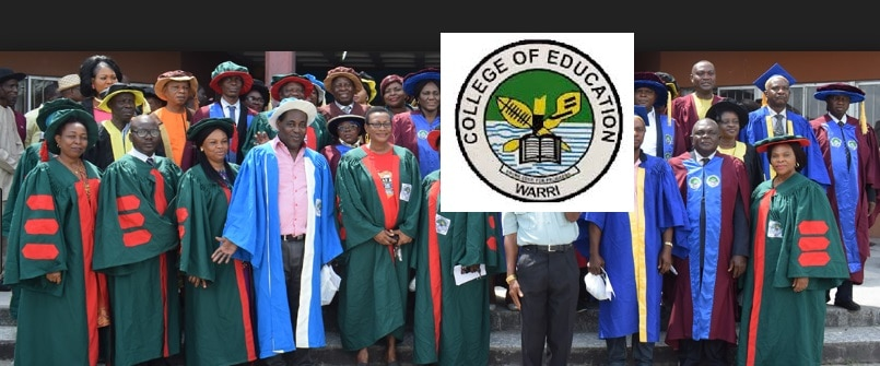 college of education warri admission form