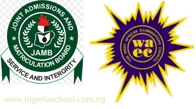 JAMB and WAEC Logo. Photo: LNUPN