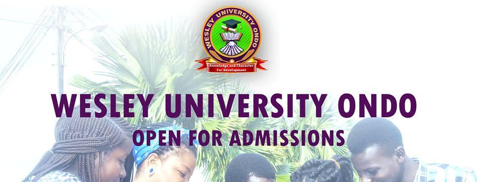 wesley university ondo post utme form