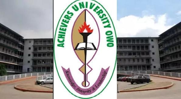 achievers university owo post utme form