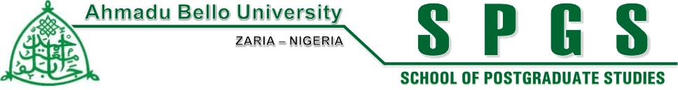 ABU postgraduate form