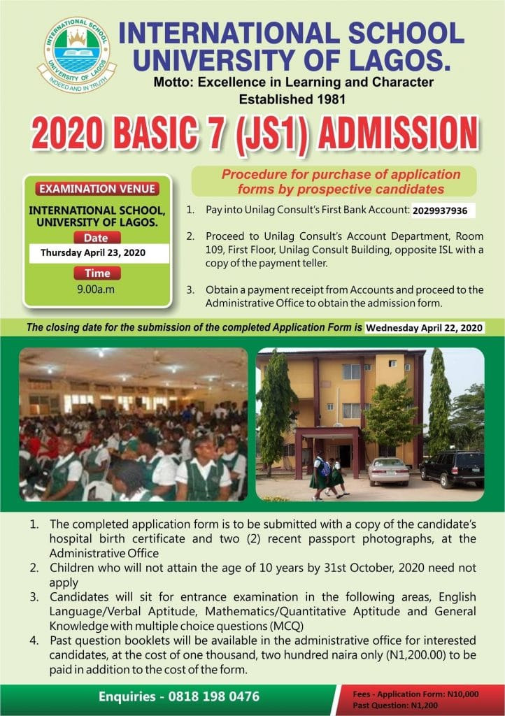 How to Apply for UNILAG International School Admission